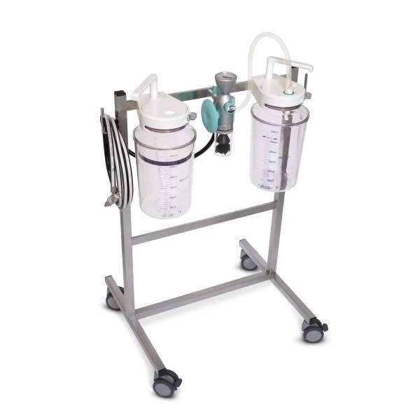 FINA Fahrbare Saugeinheit Komplettgerät / Druckluft / 2 x 3 l