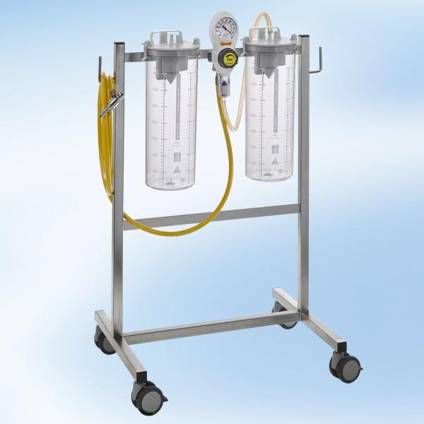 S VAC Fahrbare Saugeinheit Komplettgerät / 2 x 4 l / PSU / ISO Farbkodierung