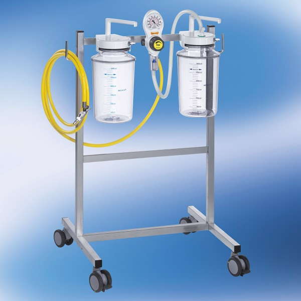 S VAC Fahrbare Saugeinheit Komplettgerät / Vakuum / 2 x 3 l