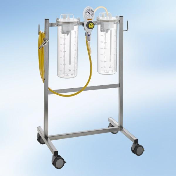 S VAC Fahrbare Saugeinheit Komplettgerät / 2 x 4 l / PC / ISO Farbkodierung