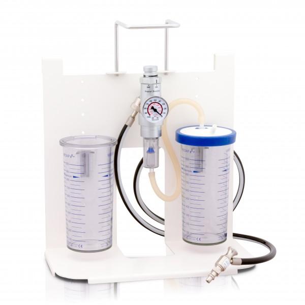 S AIR Saugeinheit kompakt Komplettgerät / Druckluft / 2 x 1 l