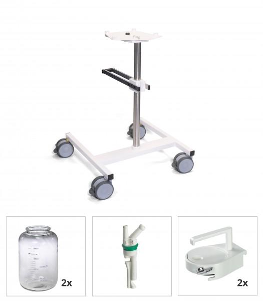 Anwendungsset Chirurgieabsaugung / fahrbar / 2 x 5 l / CF-fähig