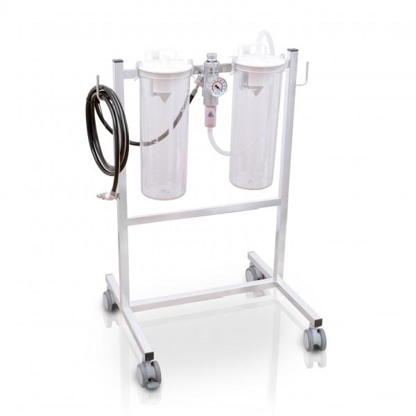 S AIR Fahrbare Saugeinheit Komplettgerät / Druckluft / 2 x 4 l / PC
