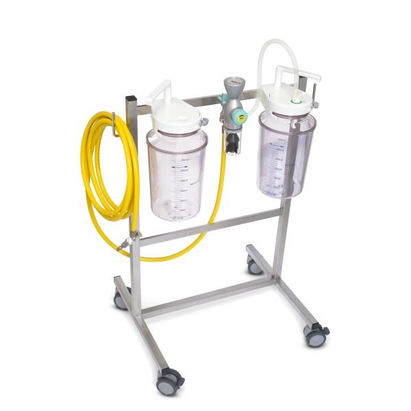FINA Fahrbare Saugeinheit Komplettgerät / Vakuum / 2 x 3 l