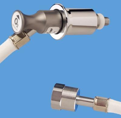 Anschlussschlauch O2 MEDAP 3 m ISO